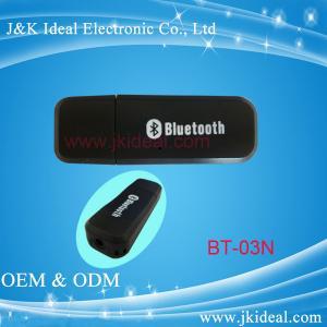 China Boîtier de protection audio /adapter de récepteur de bluetooth de musique d'usb de BT-03N avec la MIC pour le stéréo de voiture on sale