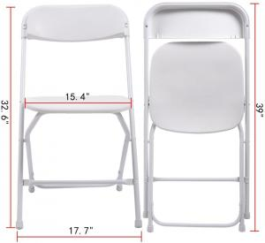 China Indoor Outdoor Plastic Folding Chair Stackable White Events Commercial Chair on sale