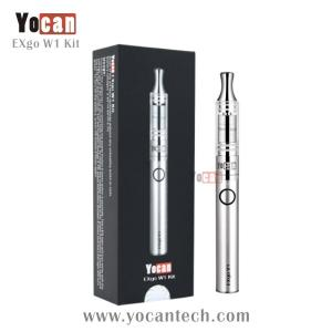 China 2014 Best selling disposable wax pen Yocan stainless steel product wax vaporizer pen exgo w1 on sale