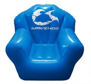 China Double Seat Blue Inflatable Sofa Chair PVC For Party Room on sale