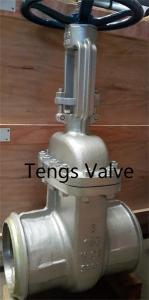 China ANSI Carbon steel bw ends handwheel flexible wedge rising stem gate valve on sale