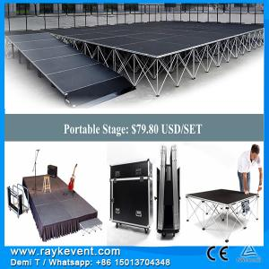 China RK Only $80/pcs portable stage stairs swimming pool glass stage, portable stage system on sale
