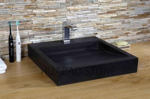China Artisan Black Small Bathroom Sink Depth Customiable Faucet Decor Under Counter on sale