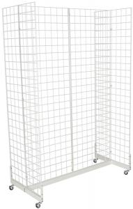 China Mobile Wheeled Retail Display Racks Grocery Store Shelving Powder Coated on sale