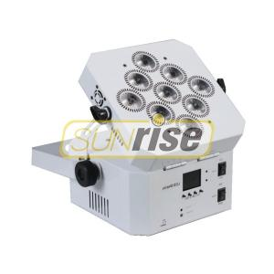 China Wireless Dmx Led Par Can Light , 9x18w Battery Operated Dj Lights Improve Product Stability supplier