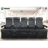 Luxury Motion Chair 5 Seats 4D Cinema System With Spray Air / Vibration