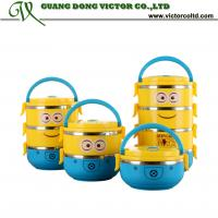 Despicable Me Minions Cartoon lunch box 1,2,3 4 layer food container thermal lunch box Insulation box