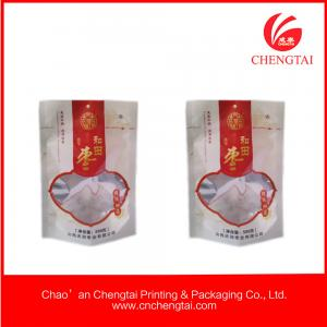 China Food Grade Vivid printing Pet Food Packaging pouch with semi transparent on sale