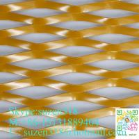 China stretched anodized aluminum expanded metal mesh with gold color on sale