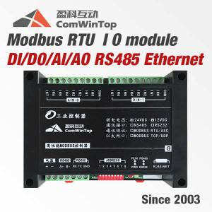 China DIN Rail Mounting Modbus RTU IO Module Analog Digital Input Output SCADA on sale