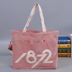 China High Capacity Durable Reusable Cotton Shopping Bags Ladies Fashion Handbags on sale