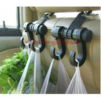 New Double Auto Car Back Seat Headrest Hanger Holder Hooks Clips For Bag Purse Cloth Grocery Automobile Accessories