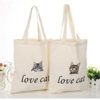 China OEM Customize Print Letter Canvas Shopping Bag
