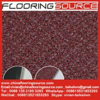 China Commercial Vinyl Flooring Tiles Carpet Wooden Pattern Design 18x18; 24x24; 36x36 on sale