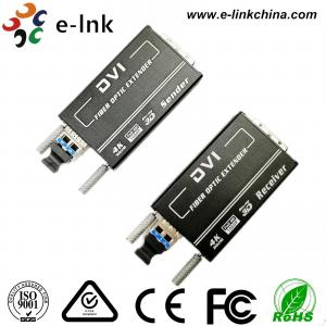 Quality Mini 4KX2K DVI Fiber Transceiver  Multi-mode 300M, Auto EDID for sale