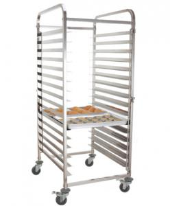 China Durable Stainless Steel Baking Tray Trolley With 4 Casters And 2 Brakes on sale