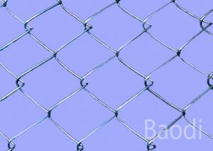 China Electro Galvanized Chain Wire Fencing With Post , High Chain Link Fence Fabric  on sale