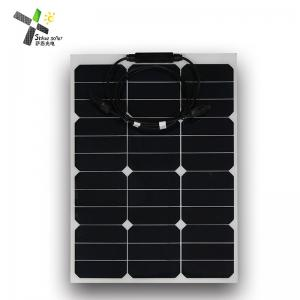 China Mono Cell SunPower Flexible Solar Panels 50W High Efficiency For Off - Grid Systems on sale