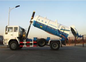 China 266HP Sewage Suction Truck 8 - 10CBM Volume 295 / 80R22.5 Rim / Tire on sale