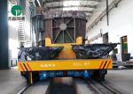 75 Ton Steel Mill Slag Transport Rail Operated Ladle Transfer Vehicle With V-Groove Deck