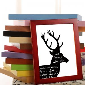 China High quality customize photo frame solid color 5inch-20inch wooden photo frame with 14 color options welcome customize on sale