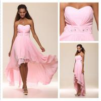 Angel Bridal 2013 New Blushing Pink High Low Sweetheart Chiffon Prom Gown Formal Evening Dress With Beadings #00169406