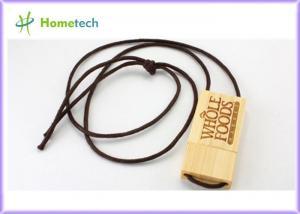 China Promo Mini Wooden USB Flash Drive , Laser Printing Logo USB Flash Drive 1GB / 2GB USB on sale