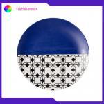 8 Inch Geometric Flat Custom Printed Dinner Plates Ceramic Tableware Eco Friendly