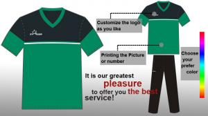 China Cool Dry Sublimated Soccer Team Wear / Green Soccer Jerseys for Men on sale