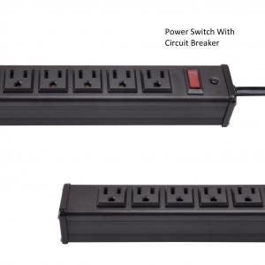 Quality Metal 24 Way Multi Outlet Power Strip With 15' Ultra Long Extension Cord for sale