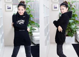 China Girls  / Ladies Hooded Sweatshirts , Black / Yellow / White Cotton on sale