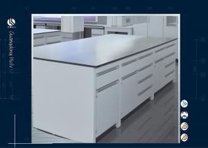 China Pharmaceuticals Pathology Dental Lab Workstation , Floor Mounted  Science Lab Furniture on sale