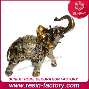 China Customized Resin Elephant Figurine Statue for President Table Decoration on sale
