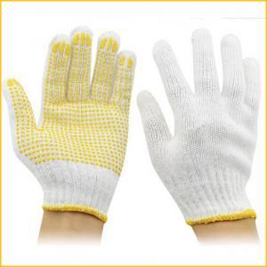 China Le PVC a pointillé des gants de coton avec les fossettes en caoutchouc pour la construction on sale