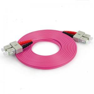 China Multi Mode Duplex Optical Fiber Patch Cord OM4  3.0 SC TO SC Fiber Patch Cable on sale