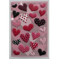 China Small 3D Heart Shaped Stickers , PVC PET EVA Puffy Heart Stickers For Envelopes  on sale