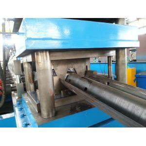 China High Precision Guard Rail Roll Forming Machine , PLC Guard Rail Machine High Speed on sale