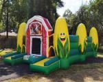 Hot inflatable corn maze fall event games obstacle course jeux gonflable
