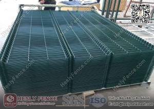 China 3D Welded Wire Mesh Fence Panels | RAL6005 dark green color | China Metal Fence Supplier on sale