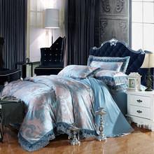 China 寝具の一定100%cottonジャカード捧げ物の絹のtencelのサテンの羽毛布団カバー敷布の枕カバーのブランドのベッド・カバーのキルト カバーはあります on sale