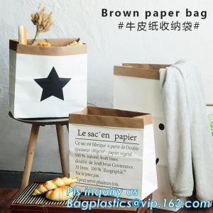 China washable paper and tyvek foldable storage sack basket, tyvek bag waterproof storage container hamper baskets bagplastics on sale