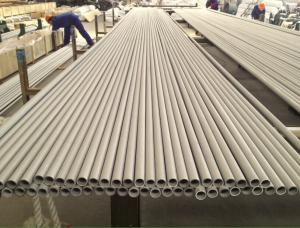China SB677 UNS NO8904 / 904L Seamless Steel Pipe 16 BWG 40FT Size PICKLED on sale