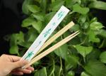 Custom Printed Japanese Style Chopsticks , Bamboo Disposable Chopsticks