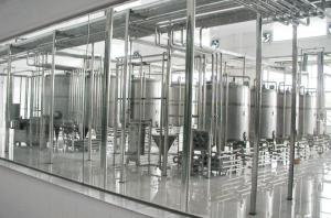 China Refrigerated Dairy Production Line / Milk Cooling Tank With CIP Cleaning System on sale