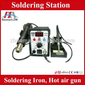 China Soldering and desoldering station hot air gun with soldering iron on sale