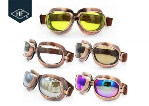 China Copper Yellow Frame Aftermarket Motorcycle Accessories Metal Sunglasses on sale