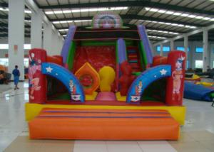 China Happy Backyard Inflatable Water Slid 7 X 4 X 5m , Huge Inflatable Water Slide Safe Nontoxic on sale