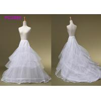 Ball Gowns White 3 Hoop Petticoat , Beading Bridal Wedding Dress Hoop Petticoat