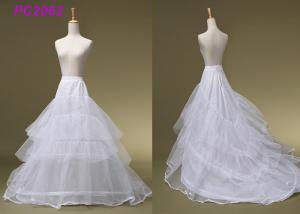 China Ball Gowns White 3 Hoop Petticoat , Beading Bridal Wedding Dress Hoop Petticoat on sale