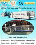 China High Speed Carton Box Manufacturing Machine Gluer Strapper Inline 300 Pcs / Min wholesale